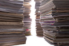 Magazine Stack Alley Royalty Free Stock Photo