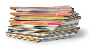 Magazine. Stack pile press print cover background royalty free stock photos