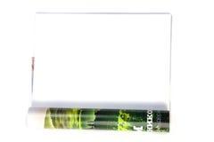Magazine vide de page blanc Images stock