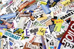 Magazine Word Background Stock Photography