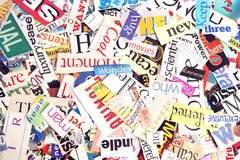 Magazine Word Background Stock Photos