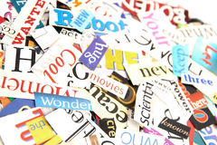 Magazine Word Background Royalty Free Stock Images