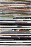 Magazines. Stack of numerous colorful magazines Stock Images