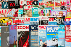 Magazines. Various magazines around the world Stock Images
