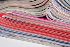 Magazines. It is a  stack of magazines Stock Image