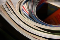 Magazines. A few of magazines on sunny Stock Photography