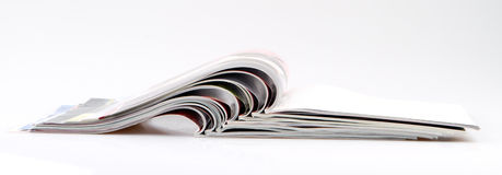 Magazines. Photo of  the stacked magazines Royalty Free Stock Image