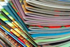 Magazines. Colorful magazines Royalty Free Stock Photos