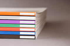 Magazines. Stack of some different magazines Royalty Free Stock Photography
