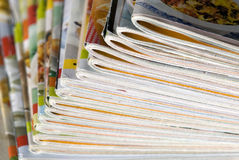 Magazines. A lot of colorful magazines Royalty Free Stock Photos