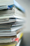 Magazines. Stack. Close Up. Blur Stock Photography