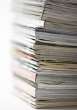 Magazines. Studio shot of a pile of magazines Royalty Free Stock Images