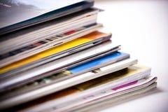Magazines. Studio shot of a pile of magazines Royalty Free Stock Photography