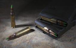 Magazines and ammo Stock Photos