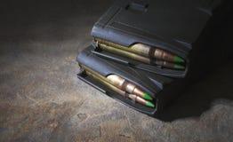 Magazines AR-15 Photo libre de droits