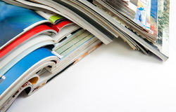 Magazines and books Royalty Free Stock Photos