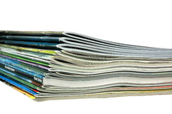 Magazines and Catalogs. A stack of magazines and catalogs Royalty Free Stock Photography