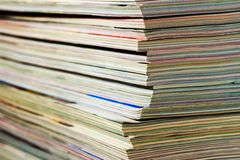 Magazines, close up Royalty Free Stock Photos