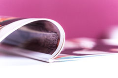 Magazines. Close up of magazine pages Royalty Free Stock Images