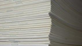 Magazines de Blanc Photo stock