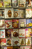 Magazines for food and living in store Royalty Free Stock Image