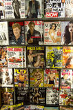 Magazines for man in store Royalty Free Stock Images