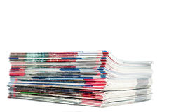 Magazines pile Stock Photos