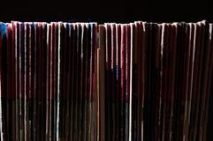 Magazines row background Stock Photo