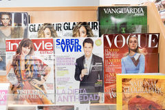 Magazines in spain Stock Image