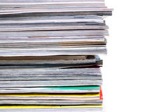 Magazines Stack Stock Photography