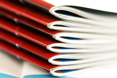 Magazines stack Royalty Free Stock Photos