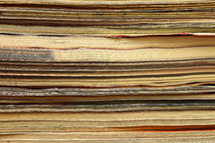 Magazines stack close-up. Abstract background Stock Photo