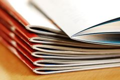 Magazines stack Royalty Free Stock Photography