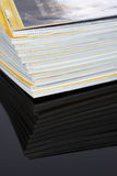 Magazines stacked Royalty Free Stock Photos