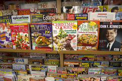 Magazines in store Stock Photos