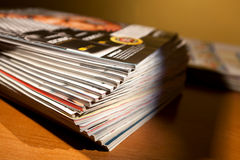 Magazines on the table Stock Photography