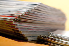Magazines on the table Royalty Free Stock Images