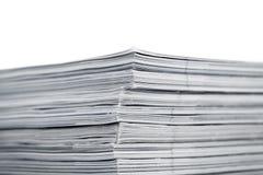 Magazines up close shot on white background Stock Images