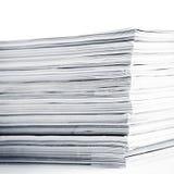 Magazines up close shot on white background. Mono magazines up close shot on white background stock images