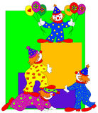 magazynki klaun sztuki Zdjęcie Royalty Free