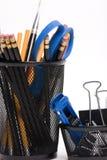 magazynki ołówki desktop kosz Zdjęcie Royalty Free