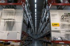 Magazynowa nawa w IKEA Bangna gałąź w Megiej Bangna zdjęcia stock