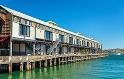 Magazynowi biura na nabrzeżu Dawes punkt w Sydney Zdjęcia Stock