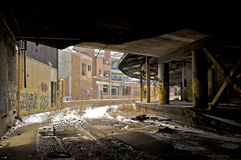 magazzino abbandonato Fotografia Stock Libera da Diritti