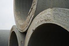Magazzino concreto della fabbrica del tubo Fotografie Stock
