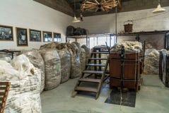 Magazzino crudo della lana delle pecore Fotografia Stock
