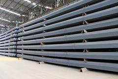 Magazzino d'acciaio dei prodotti finiti dei materiali Fotografia Stock Libera da Diritti
