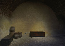 Magazzino dal castello di Gruyeres, Svizzera Immagine Stock