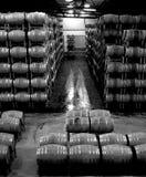 Magazzino del barilotto di vino Fotografia Stock Libera da Diritti