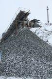 Magazzino del carbone e della pietra, pietre della cava Immagini Stock Libere da Diritti
